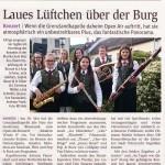 """""""Laues Lüftchen über der Burg"""" – NÖN 24/2015"""