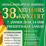 38. Neujahrskonzert am 7.1.2018 - Flyer