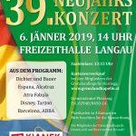 39. Neujahrskonzert Flyer 2019
